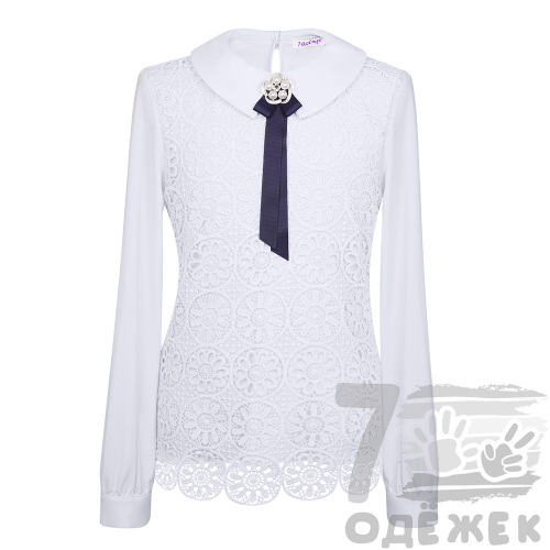 277 Блузка для девочки с длинным рукавом