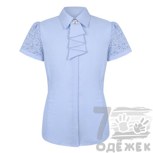 200-1339S-1 Блузка для девочки с коротким  рукавом