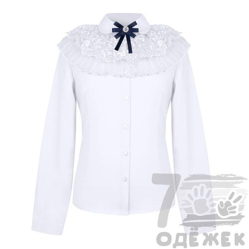 016S Блузка для девочки с длинным рукавом