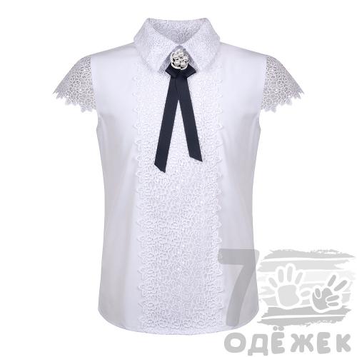 272-1 Блузка для девочки с коротким рукавом