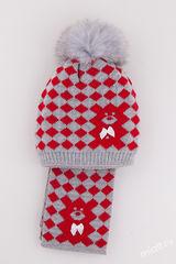 Шапка и шарф Игрушка 2 Комплект 48-54