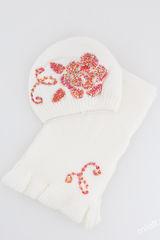 Шапка и шарф Ночная роза Комплект 48-54