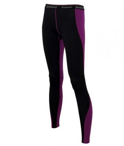 Панталоны длинные G22-9471P/BK/LC черный/лиловый жен.