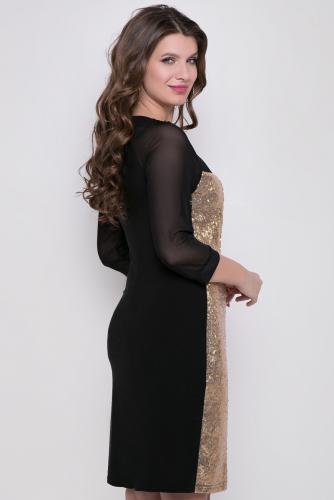 Платье #164034Черный/Золото