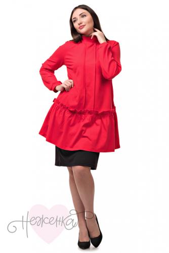 Платье-туника Т 128 (красный). НЕЖЕНКА