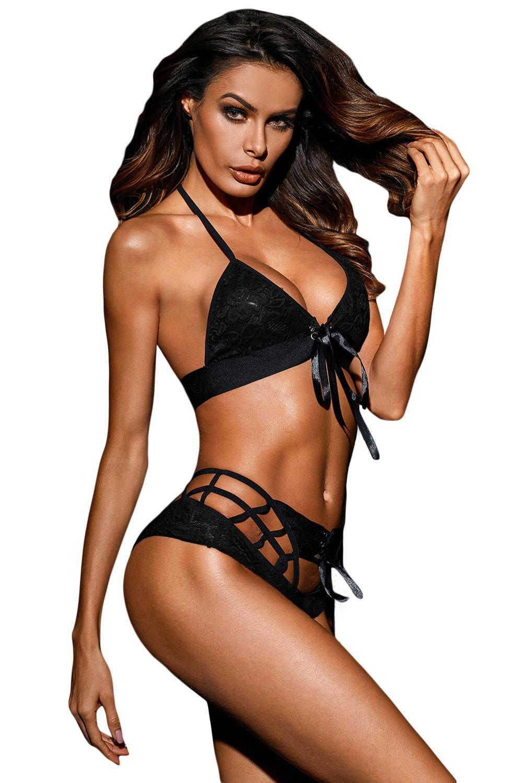 Black lingerie sexy