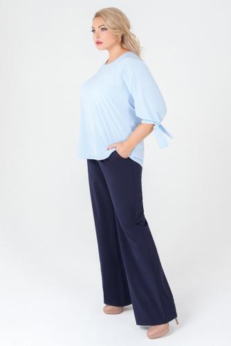 Блуза #158111Голубой