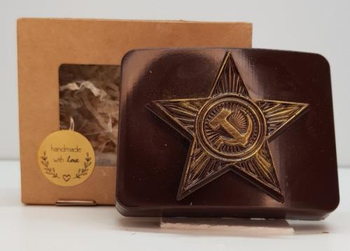 Шоколадная пряжка со звездой