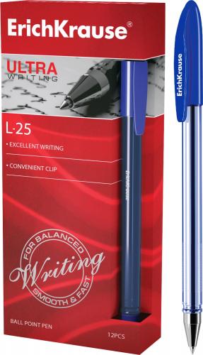 Ручка шариковая ErichKrause® ULTRA-25, цвет чернил синий (в коробке по 12 шт.)