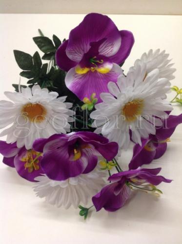 Букет гербер с орхидеями, 11 г