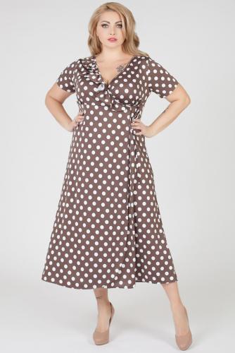 Платье #167459Капучино/Крупный