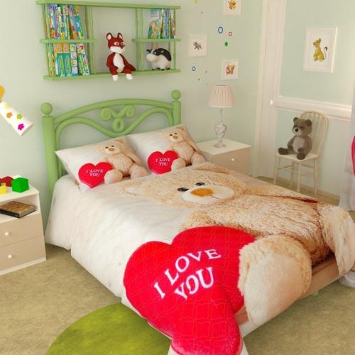 Покрывало детское Влюбленный медвеженок