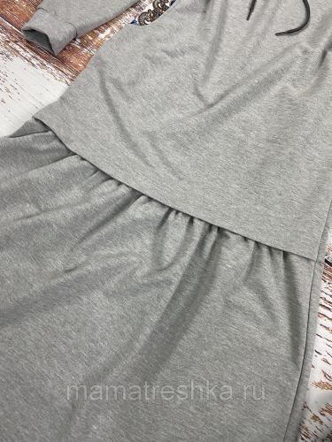 Платье макси серое (50-54)