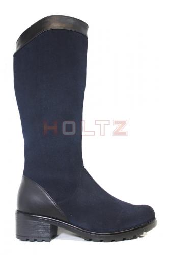 Женские зимние сапоги на устойчивом каблуке 8886-1-3-1