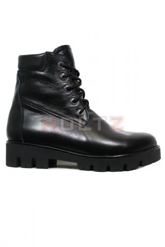 Зимние кожаные черные ботинки 128 толстой подошве Sandra