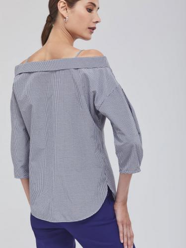 Блуза на бретелях с открытыми плечами