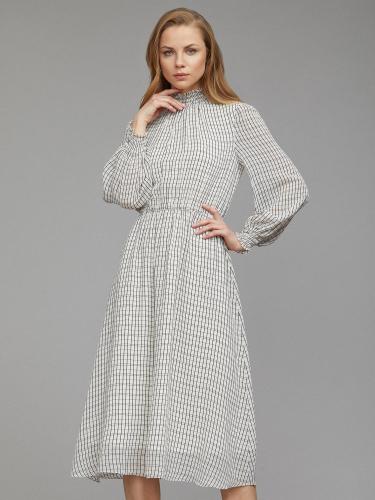 Приталенное платье в клетку