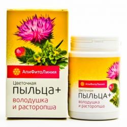 Апифитокомплекс «Пыльца+» Володушка и расторопша-№60,табл. по 0,55г