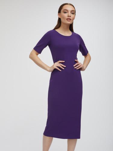 Платье миди из плотного трикотажа