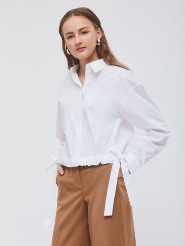 Рубашка из хлопка с завязками