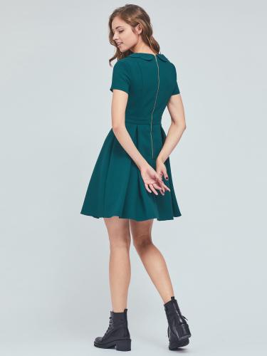 Платье мини со складками