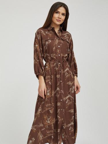 Платье миди на кулиске