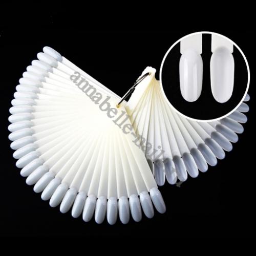 Дисплей-веер на кольце «МИНДАЛЬ» матовый, 50шт