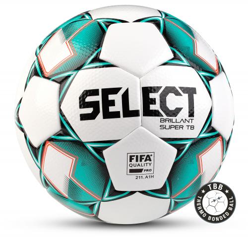 SELECT BRILLANT SUPER TB, мяч футбольный ((004) бел/зел/чер, 5)
