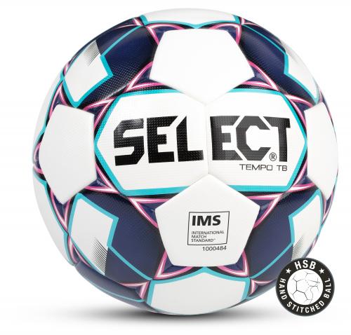 SELECT TEMPO IMS мяч футбольный ((009) бел/фиол/син, 5)