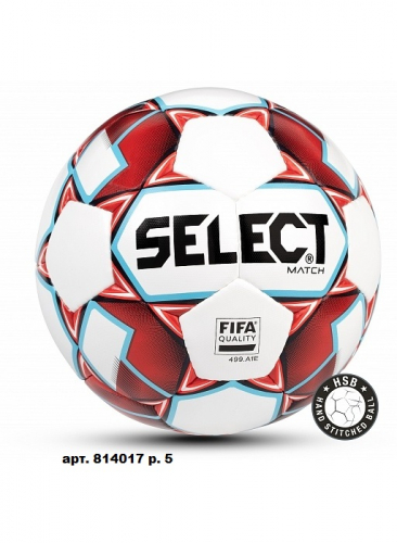 SELECT MATCH FIFA , мяч футбольный ((103) бел/крас/гол/чер, 5)