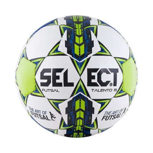 SELECT FUTSAL TALENTO 13, мяч м/ф ((002) бел/син/оранж, U-13) - для детей в возрасте 12-14 лет