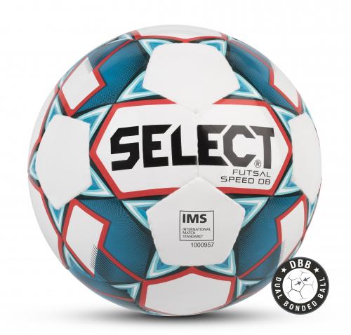 SELECT FUTSAL SPEED DB IMS, мяч м/ф ((002) бел/син/красн, 62-64)