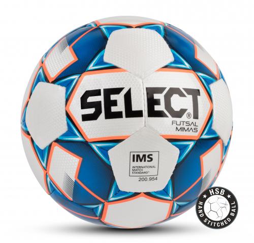 SELECT FUTSAL MIMAS IMS, мяч м/ф ((003) бел/син/оранж, 62-64)