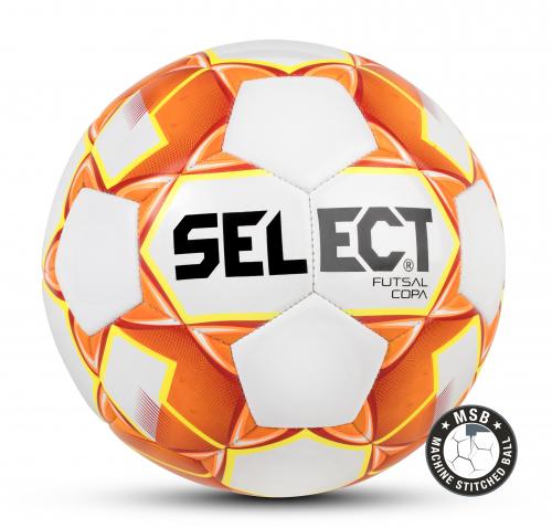 SELECT FUTSAL COPA, мяч м/ф ((006) бел/оранж/жел, 62-64)