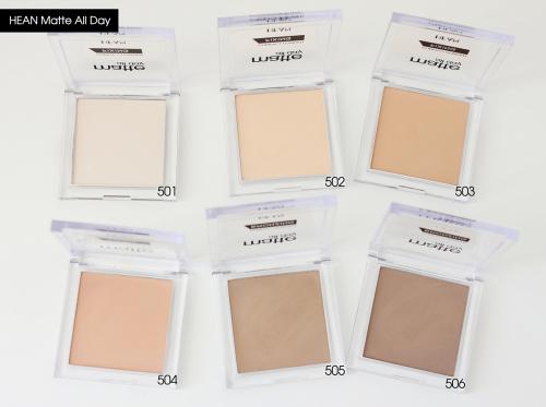 Фиксирующая пудра Matte All Day compact powder translucent 501