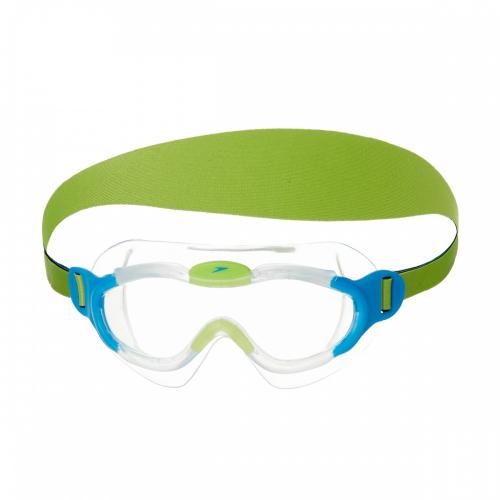 SPEEDO SEA SQUAD MASK JU BLUE/GREEN очки дет, (8029) гол/зел