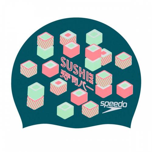 SPEEDO Slogan Print Cap шапочка , (D434) зел/красн