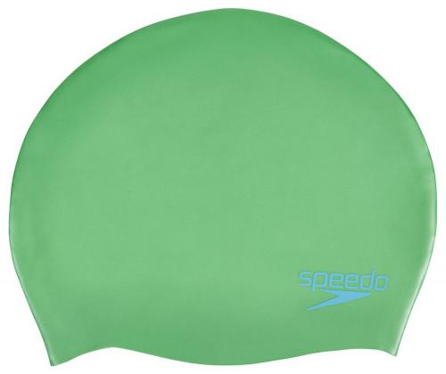 SPEEDO Plain Moulded Silicone Junior шапочка дет, (C549) зел/гол