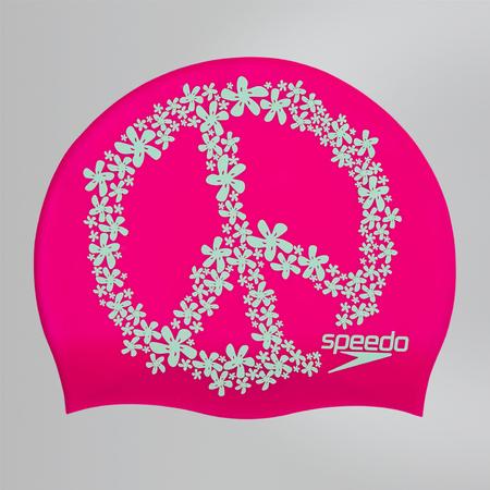 SPEEDO Slogan Print Cap шапочка , (C899) роз/зел