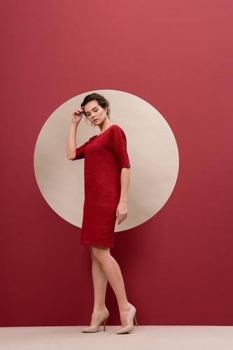 Платье - П079Р (красный)