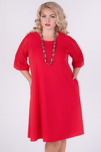 Платье #145299Красный