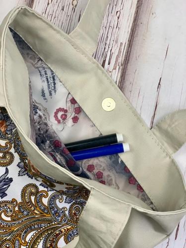 Эко-сумка бежевая (бежевая 2)