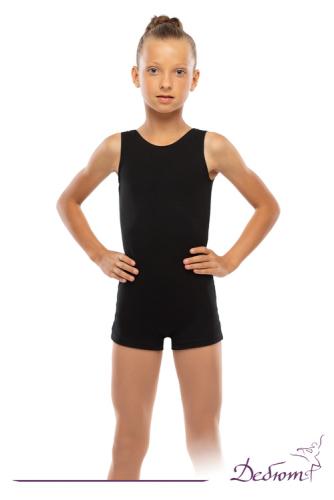 ДГ 030 Комбинезон гимнастический с шортами на широкой лямке, унисекс В наличии