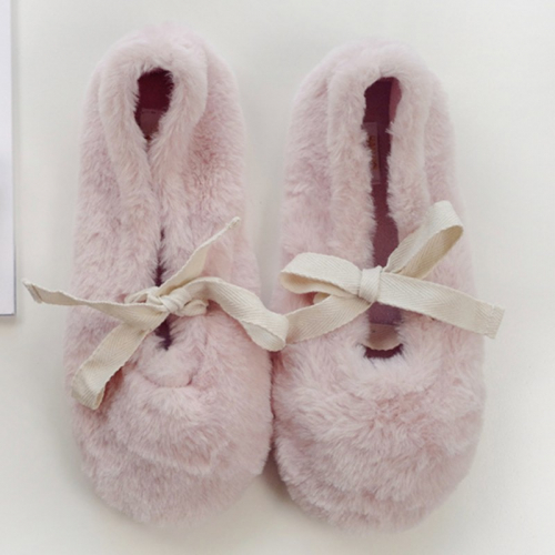 Тапочки «Fluffy» розовые с задником H2121