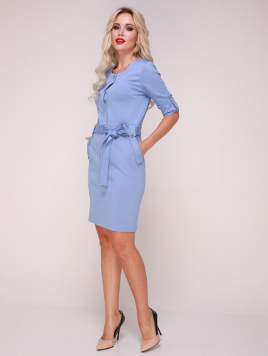 Платье 326 голубой