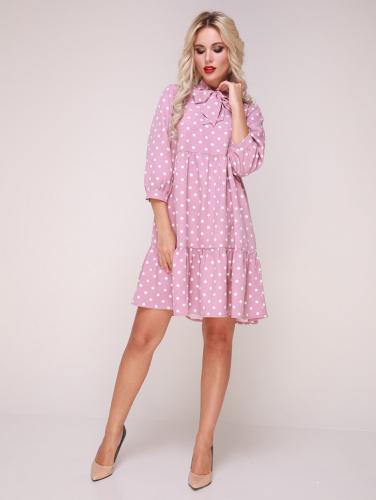 Платье 173/4 розовый/горох