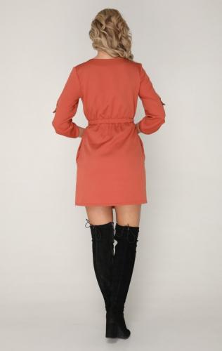 Платье 220 терракотовый