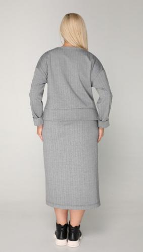 Костюм 2-109, серый/ёлочка