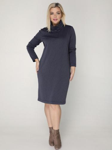 Платье 031/4 синий/полоска