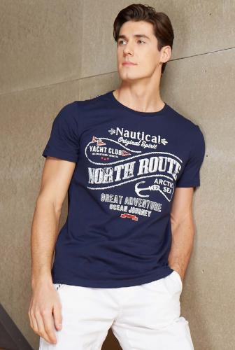 Фуфайка (футболка) муж темно-синий